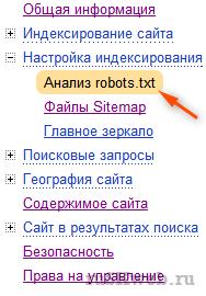 анализ robots.txt