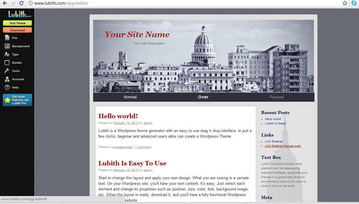 Как сделать свой шаблон wordpress