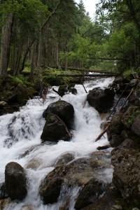 белые водопады