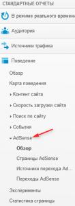 аналитика и  AdSense